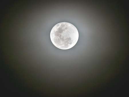 The Moon Radiates in The Space