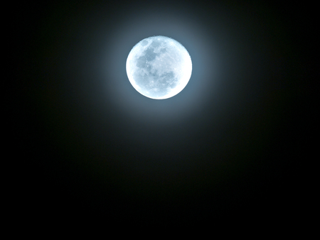 The Moon is Radiant Yellow in The Space Banco de Imagens