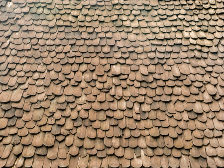 The Roof Made form The Wooden Materials of Northern Thailand