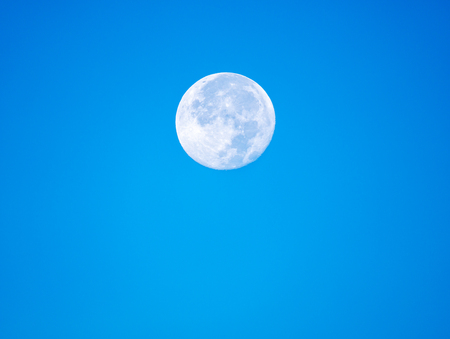 The Moon Appears in The Daytime during in The Late Afternoon