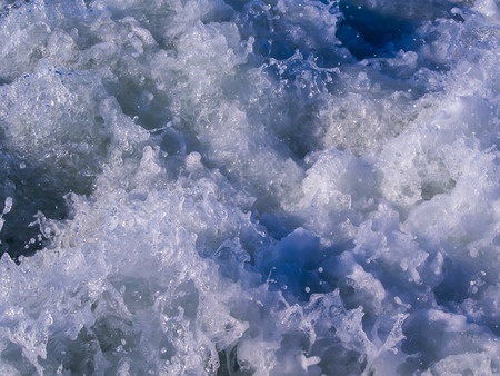 The Sea is a White Wave Spread in The Afternoon Imagens