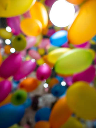 The Blur Brightly Colored Ballons Flying in The Air