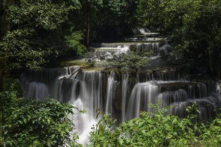khamin: WaterfallHuay Mae Khamin Kanchanaburi Province Thailand Stock Photo