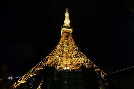 sumida ward: Skyline of Tokyo  tower. Stock Photo