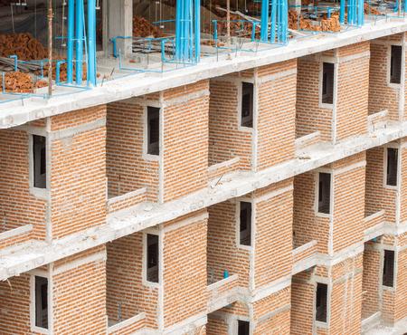 redbrick: A Red-Brick Building Under Construction