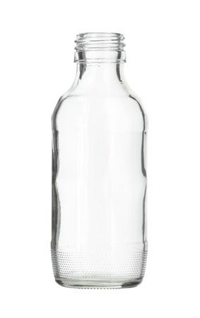 투명 유리 병 흰색 배경에 고립 스톡 콘텐츠 - 34455679