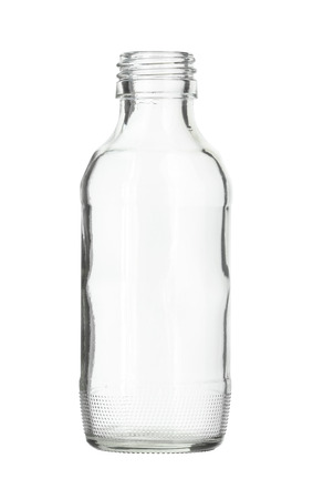 glass bottle: Clear Glass Bottle isolated on white background