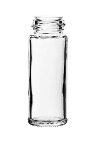 조미료 유리 흰색 배경에 고립 된 없음 캡 병 없습니다 스톡 콘텐츠 - 40959580