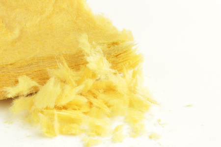 Glass Wool on white background Stockfoto