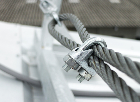 Steel Wire Rope Sling Clip Archivio Fotografico