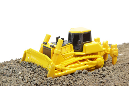 excess: Bulldozer Clearing Excess Soil Stock Photo
