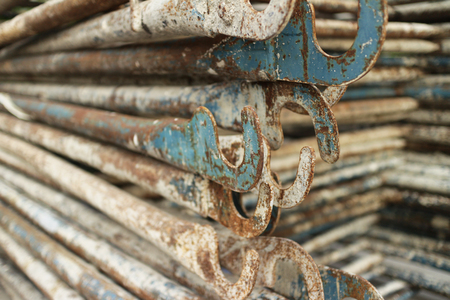 scaffolds: Stack of Steel Scaffolds Stock Photo