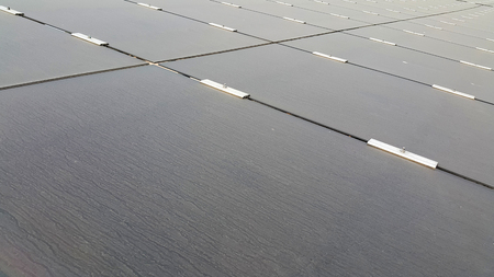 amorphous: Dirty Dusty Photovoltaic Panels Stock Photo