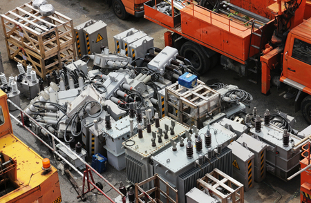 Damaged Electrical Equipment Yard
