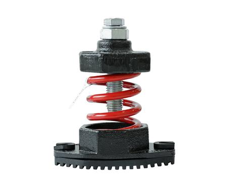 vibration machine: Vibration Damper isolated on white background Stock Photo
