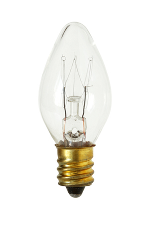 Cone Shape Incandescent Lamp isolated on white background clipping path Stock Photo