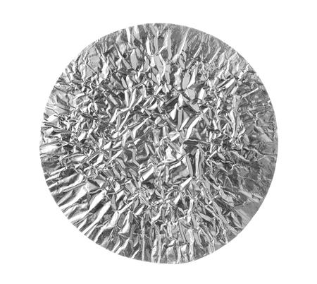 aluminium background: Round Shape Aluminium Foil Texture isolated on white background