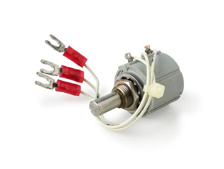lug: Variable Resistor Potentiometer isolated on white background