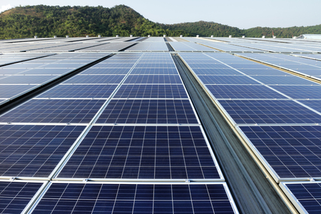 tree service pictures: Solar PV Rooftop System Mountain Background