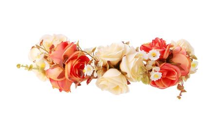 흰색 배경에 고립 된 꽃 크라운