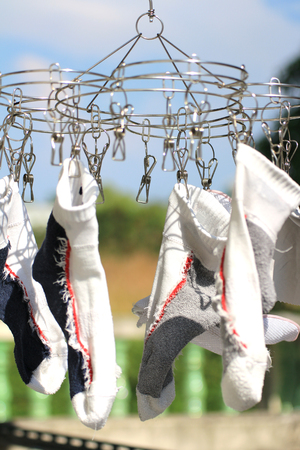 Socks Drying Sunny Day Abstract
