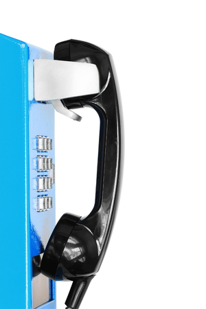 흰 배경에 고립 된 공중 전화