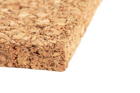 Cork Tile isolated on white background