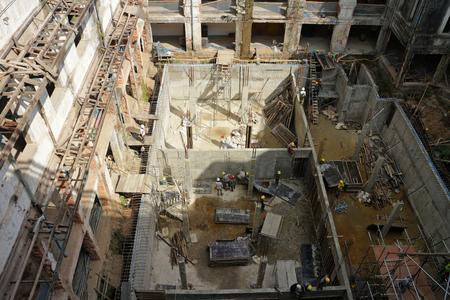 건물 개조 공사 현장 스톡 콘텐츠