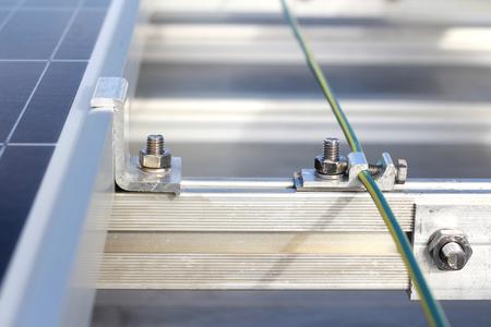 태양 PV 옥상 접지 시스템 스톡 콘텐츠