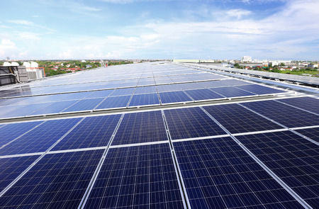 태양 PV 옥상 시스템 스톡 콘텐츠