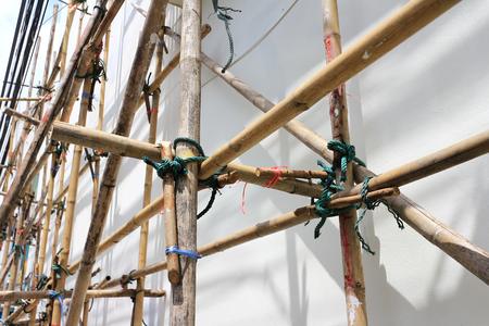대나무 스캐 폴딩 어셈블리