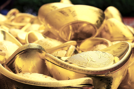 Chinese Gold Sycee with Wording means All Preciouses Come In