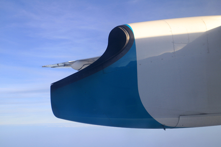 Exhaust Nozzle of Propeller Plane Engine 스톡 콘텐츠 - 99693397