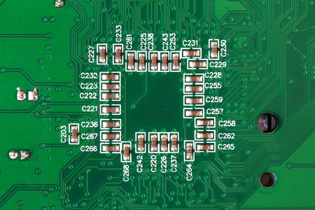 Printed Circuit Board with SMD type Capacitors soldered on 스톡 콘텐츠 - 101470653