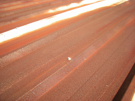 Rusty Metal Sheet Roof Close up 스톡 콘텐츠 - 101493705