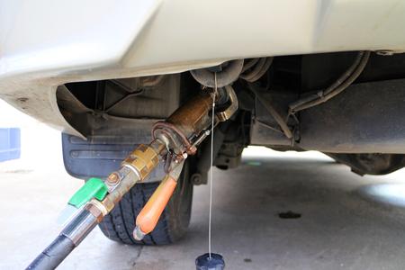LPG Gas Refill Nozzle in use