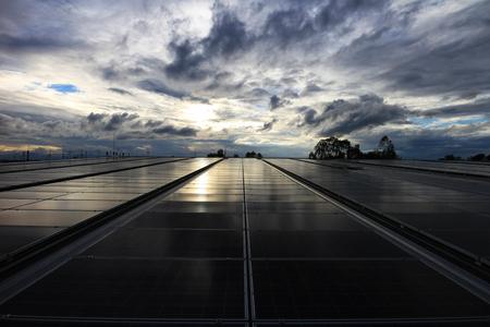 Solar PV Rooftop Dawn Sky
