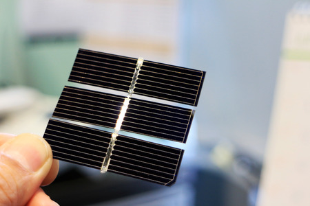 Solar Cell Hand Holding Energy Abstract 스톡 콘텐츠