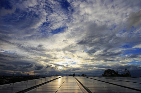 Messy Cloud over Solar PV Rooftop System