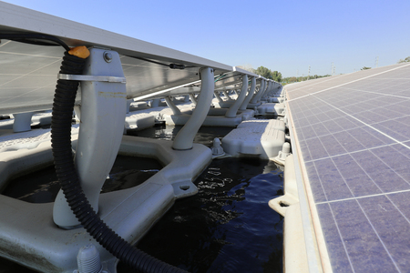 Floating Solar PV System Close up View