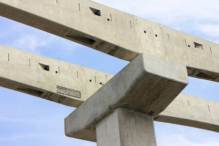 Complete Joints of Concrete Beams for Sky Train Railway 스톡 콘텐츠 - 146866945