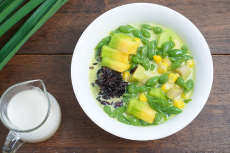 Lod Chong Recipe Sweet Thai Dessert