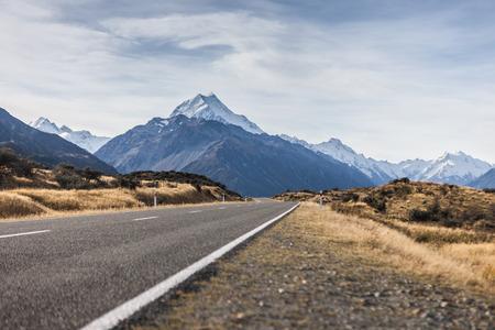 Road to Mt. Cook , Twizle, Newzealand photo