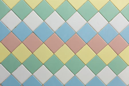 tile wall: Colorful of square wall tiles background with soft and sweet color