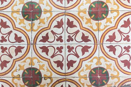 Bunte alten chinesischen Stil Bodenfliesen Muster.