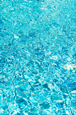 rippling: Ripple and reflection of water in blue pool. Stock Photo