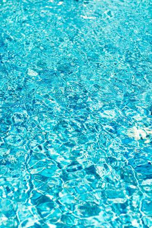 olas de mar: Ripple and reflection of water in blue pool. Foto de archivo