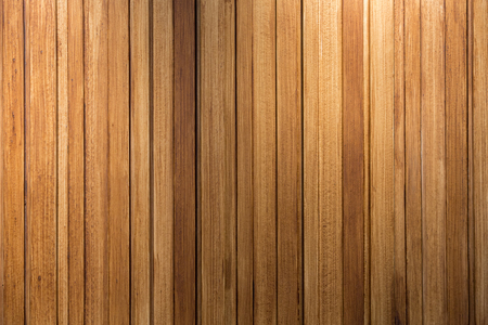 down lights: Wooden wall background and texture lit with down lights. Stock Photo