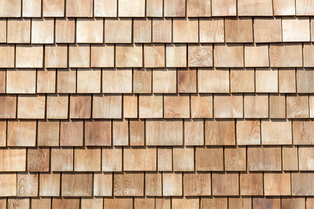 tile background: Wooded plank roof tiles background  texture Stock Photo