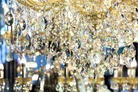 crystal chandelier: Closeup of  luxury crystal chandelier. Stock Photo